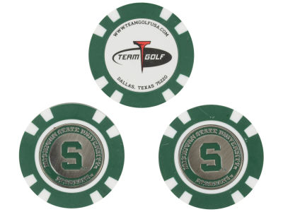 Michigan State Spartans Golf Poker Chip Markers 3 Pack