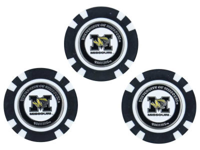 Missouri Tigers Golf Poker Chip Markers 3 Pack