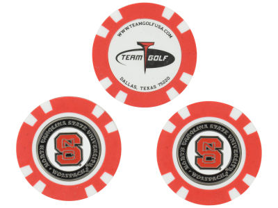 North Carolina State Wolfpack Golf Poker Chip Markers 3 Pack