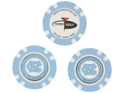 North Carolina Tar Heels Golf Poker Chip Markers 3 Pack
