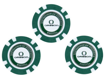 Oregon Ducks Golf Poker Chip Markers 3 Pack