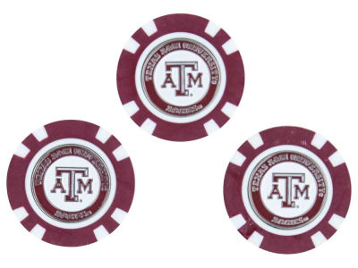 Texas A&M Aggies Golf Poker Chip Markers 3 Pack