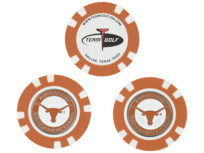 Texas Longhorns Golf Poker Chip Markers 3 Pack