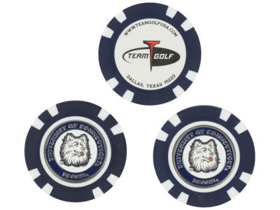 Connecticut Huskies Golf Poker Chip Markers 3 Pack