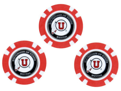 Utah Utes Golf Poker Chip Markers 3 Pack