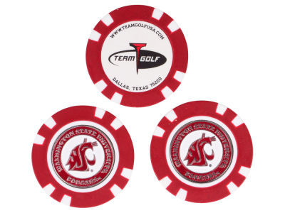 Washington State Cougars Golf Poker Chip Markers 3 Pack