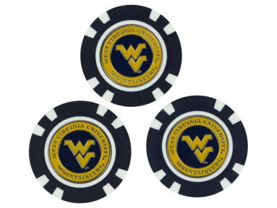 West Virginia Mountaineers Golf Poker Chip Markers 3 Pack