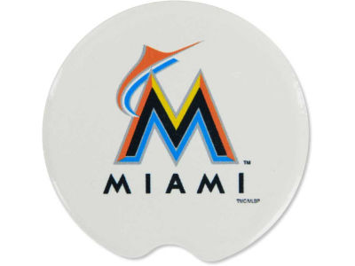 Miami Marlins 2 Pack Car Coasters