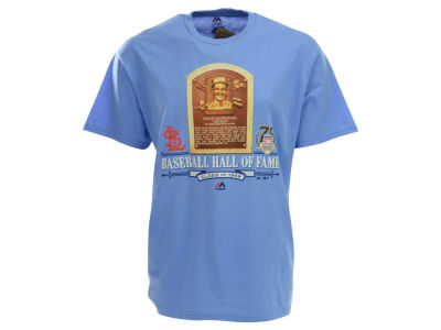 St. Louis Cardinals Stan Musial MLB Men's Hall of Fame Plaque T-Shirt