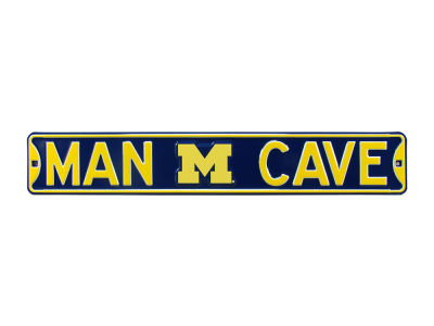 Michigan Wolverines Man Cave Sign Metal