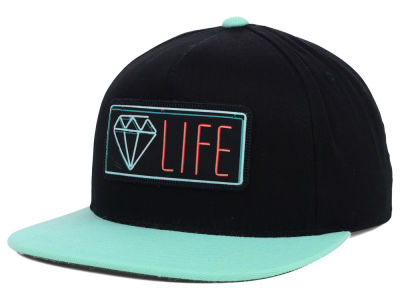 Diamond Neon Snapback Hat