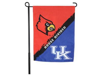 Louisville Cardinals House Divided Flag Double Sided