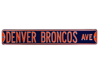 Denver Broncos Authentic Street Signs Authentic Street Sign Avenue