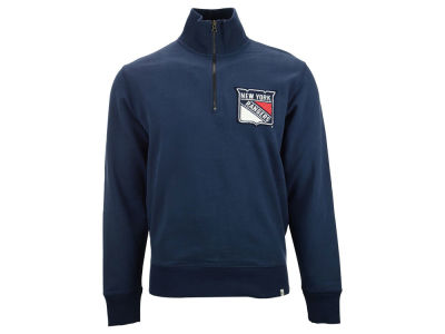 New York Rangers NHL Men's Cross Check 1/4 Zip Pullover Shirt