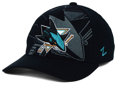 San Jose Sharks Zephyr NHL Black Covert Flex Cap