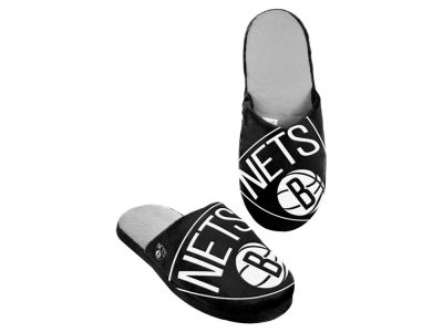 Brooklyn Nets Big Logo Slippers