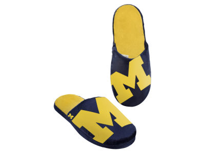 Michigan Wolverines Big Logo Slippers