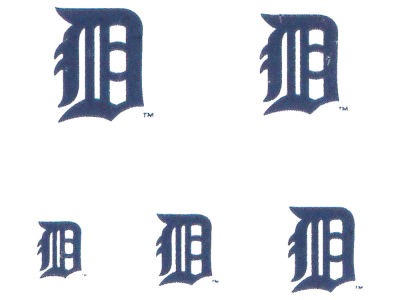Detroit Tigers Tattoo Nail