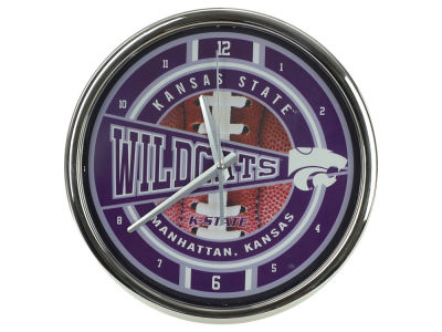 Kansas State Wildcats Chrome Clock