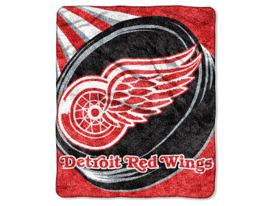 "Detroit Red Wings Sherpa Throw 50x60inch ""PUCK"""