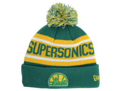 Seattle SuperSonics New Era NBA HWC Biggest Fan Pom Knit
