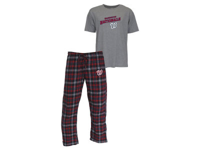 Washington Nationals MLB Men's Candid Flannel Plaid Pants and T-Shirt Outfit