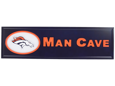 Denver Broncos Man Cave Sign Metal