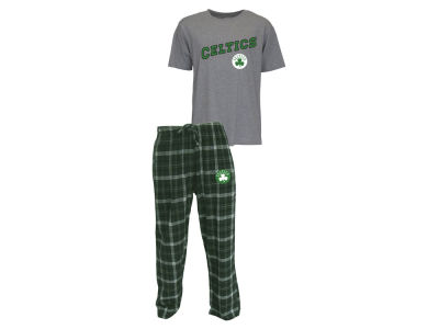 Boston Celtics NBA Men's Candid Flannel Plaid Set