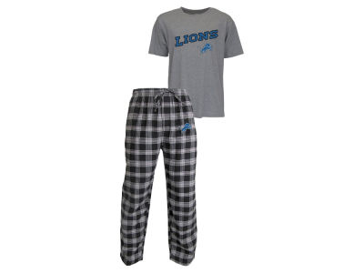 Detroit Lions NFL Men's Candid Flannel Plaid Set