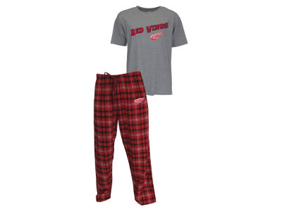 Detroit Red Wings NHL Men's Candid Flannel Plaid Set