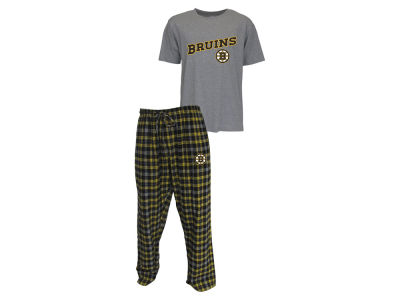 Boston Bruins NHL Men's Candid Flannel Plaid Set