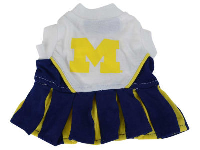Michigan Wolverines Dog Cheerleader