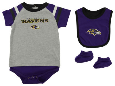 Baltimore Ravens NFL Newborn Little Player CBB Set