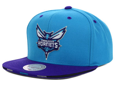 Charlotte Hornets Mitchell and Ness NBA Super Stripe Snapback Cap
