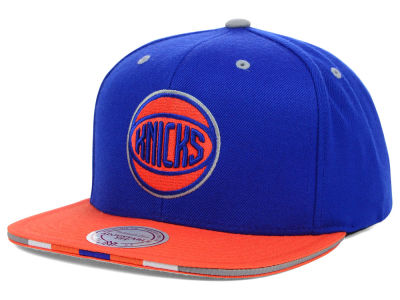 New York Knicks Mitchell and Ness NBA Super Stripe Snapback Cap