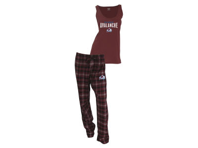 Colorado Avalanche NHL Women's Candid Flannel Tank Sleep Set