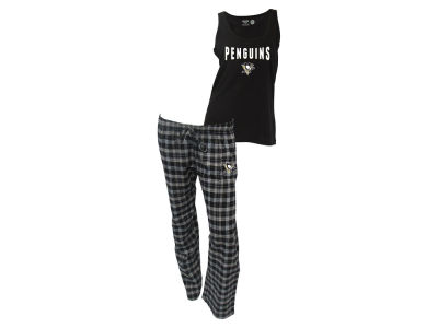 Pittsburgh Penguins NHL Women's Candid Flannel Tank Sleep Set