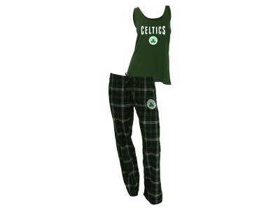 Boston Celtics NBA Women's Candid Flannel Tank Sleep Set