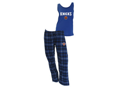 New York Knicks NBA Women's Candid Flannel Tank Sleep Set