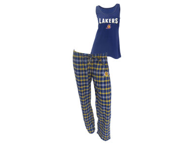 Los Angeles Lakers NBA Women's Candid Flannel Tank Sleep Set