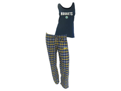 Denver Nuggets NBA Women's Candid Flannel Tank Sleep Set