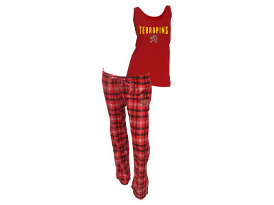 Maryland Terrapins NCAA Women's Candid Flannel Tank Sleep Set