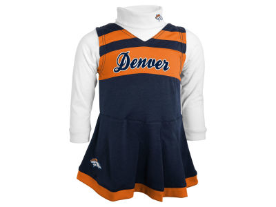 Denver Broncos Outerstuff NFL Toddler Girls Turtleneck Cheer Jumper