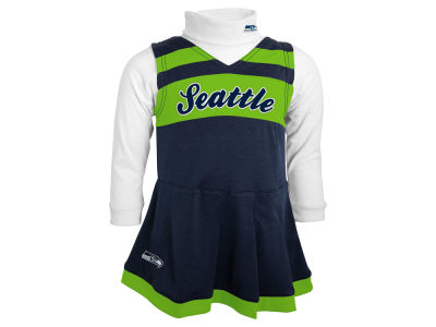 Seattle Seahawks Outerstuff NFL Toddler Girls Turtleneck Cheer Jumper