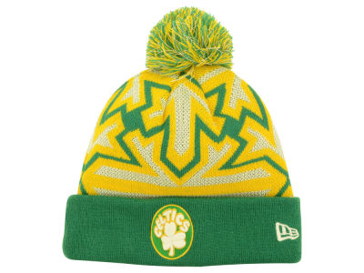 Boston Celtics New Era NBA HWC Glowflake Pom Knit