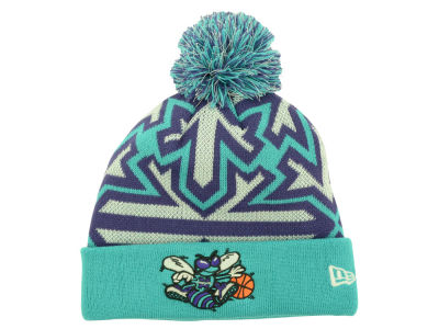 Charlotte Hornets New Era NBA HWC Glowflake Pom Knit