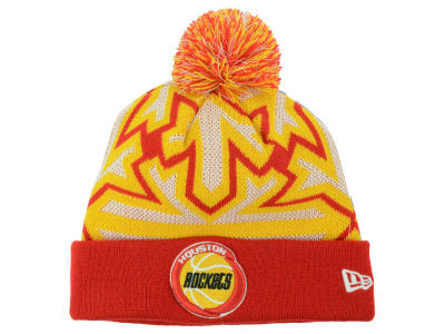 Houston Rockets New Era NBA HWC Glowflake Pom Knit