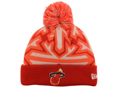 Miami Heat NBA HWC Glowflake Pom Knit