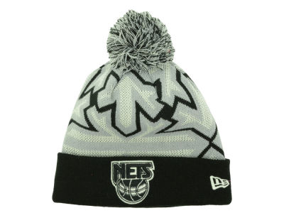 New Jersey Nets New Era NBA HWC Glowflake Pom Knit