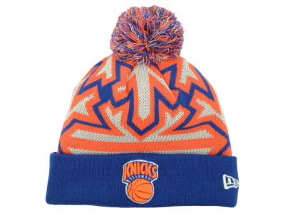New York Knicks New Era NBA HWC Glowflake Pom Knit
